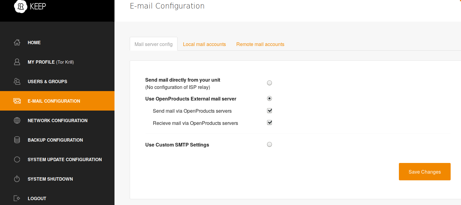Mail relay server - The KinGuard Project